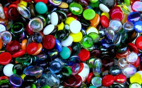 фотокартина, печать на холсте на заказ Украина ArtHolst Стеклянные Камни, разноцветные, текстура