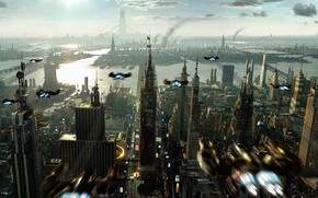 ville, Fantaisie, gratte-ciel