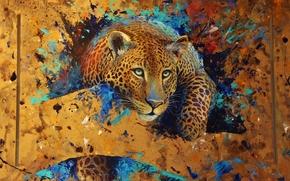 leopardo, bestia, arte