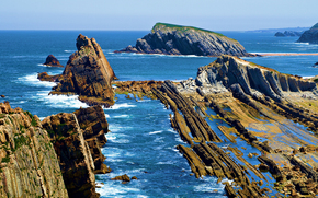 mer, côte, Rocks, paysage