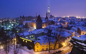 Tallinn, Estonia, notte