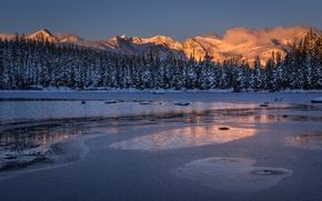 Red Rock Lake, Indian Peaks, Ward, Colorado, Ward, Colorado, lake, winter, Mountains, forest