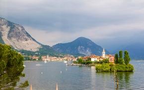 Lago Maggiore, Isola dei Pescatori, Isola dei Pescatori, Italia, Alpi, Lago Maggiore, Isola dei Pescatori, Italia, Alpi, lago, Montagne, City Island, isola