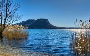 Gardskoe Lago, il più grande lago d'Italia, situato vicino ai piedi meridionale delle Alpi, Italia, Lago di Garda