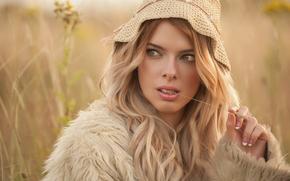 Jolie Louise, model, view, cap, hair, style