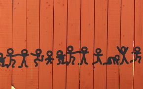 fence, dancing men, Men, dance, drawing