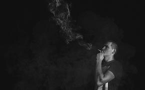 Zigarette, rauchen, Langeweile, Kerl