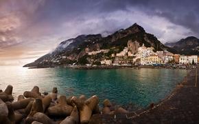 Amalfi, campania, Italia, Golfo di Salerno, Costiera Amalfitana, Monti Lattari, Monti Lattari, Amalfi, Campagna, Italia, Golfo di Salerno, Costiera Amalfitana, Monti Lattari, mare, costa, terrapieno, Montagne