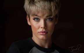 Rosie Robinson, face, makeup, fringe, view, portrait