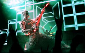 Rockerbot, Marco Plouffe, robot, guitar, concert, Music
