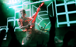 Rockerbot, Marco Plouffe, robot, guitarra, concierto, Música