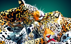 leopard, vector, art