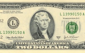 Two dollara, $ 2, United States