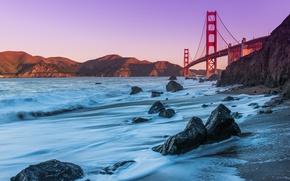 Frisco, Golden Gate, ponte, paesaggio