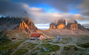 Evening Mood, Tre Cime di Lavaredo, heart of the Dolomiti di Sesto, Italy