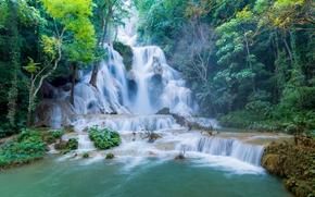 Tat Kuang Si Cachoeiras, Luang Prabang, Laos