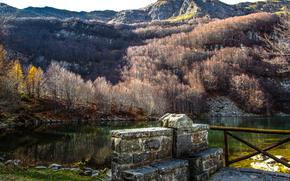 Lago Santo, Pievepelago, Modena, Emilia Romagn, Italia, acqua, colori, autunno