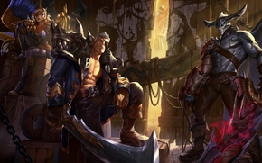 League of Legends, LoL, Corsair Quinn, Sea Hunter Aatrox, Admiral Garen