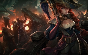 League of Legends, LoL, Miss Fortune, Captain Fortune, Pirates, gun