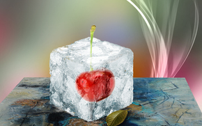 ice, cherry, frozen cherries