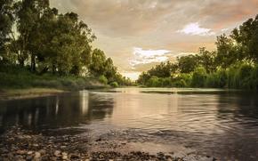 Macquarie River, Dubbo, New South Wales, Australia, sunset, landscape