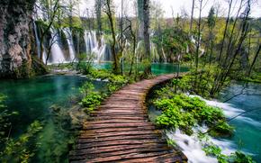 Laghi di Plitvice, Croazia, cascate, paesaggio