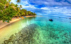 mer, lagon, île, côte, pvlmy, plage, paysage
