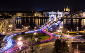 Chain Bridge, Budapest, night