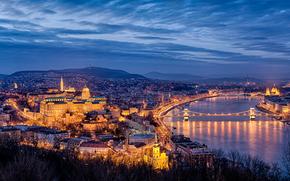 Buda Castle, Budapest, Hungary, Chain Bridge