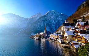 Hallstatt, Austria, Lake Hallstatt, Alps