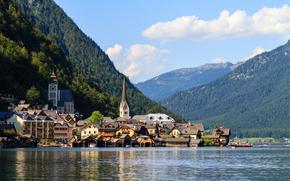 Hallstatt, Áustria, Lago Hallstatt, Alpes