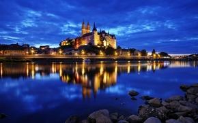 Meissen, Germania, notte, luci