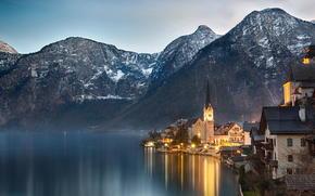 Hallstatt, Autriche, Lac de Hallstatt, Alpes