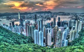 China, city, Hong Kong