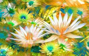 花卉, 3D, 艺术