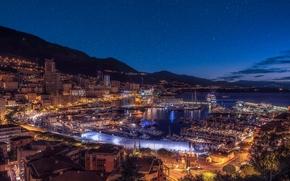 Monaco, Monte Carlo, sunset