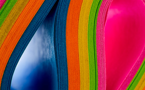 colored paper, paper, rainbow