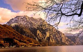 Taunstein, Traunstein, Allemagne, Montagnes, lac, paysage