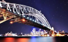 悉尼, 海港大桥, 夜