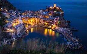 Vernazza, Cinque Terre, Liguria, Italy, Ligurian Sea, Вернацца, Чинкве-Терре, Лигурия, Италия, Лигурийское море