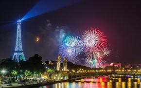 Fuochi d'artificio di giorno nazionale di Parigi, Francia, Parigi