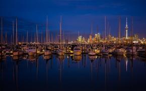 Auckland, Nuova Zelanda, città, porto