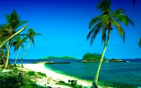 Острова Фиджи, в южной части Тихого океана, пейзаж
