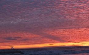 tramonto, mare, nuvole