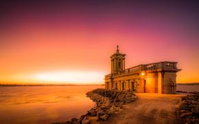 拉特兰, 英国, 教堂, 日落