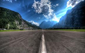 Airfield Mollis, Switzerland, landscape