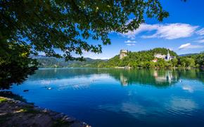 Lago di Bled, Slovenia, paesaggio