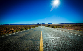 Monument Valley, Utah, road, landscape