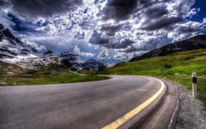 carretera, Julierpass, Suiza