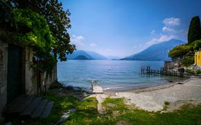Lago di Varenna, Italia, paesaggio